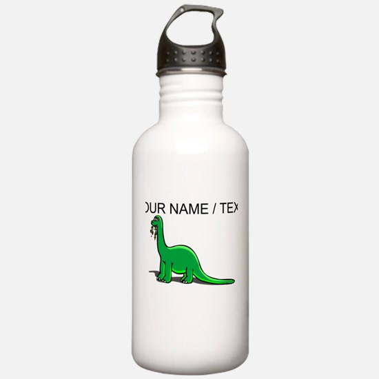 Custom Cartoon Dinosaur Water Bottle