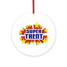 Trent the Super Hero Ornament (Round)