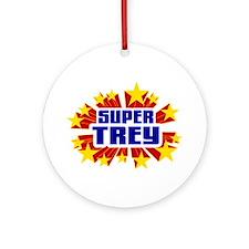 Trey the Super Hero Ornament (Round)