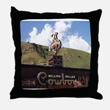 Million Dollar Cowboy Bar Throw Pillow