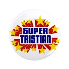 "Tristian the Super Hero 3.5"" Button"