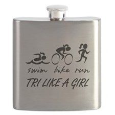 TRI LIKE A GIRL Flask