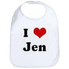 I Love Jen Bib