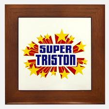Triston the Super Hero Framed Tile