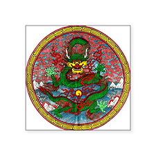 """Tibetan Dragon Square Sticker 3"""" x 3"""""""