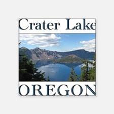 "craterlake10.png Square Sticker 3"" x 3"""