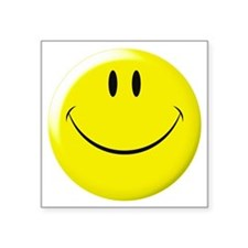 "smileyFace10.png Square Sticker 3"" x 3"""