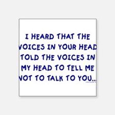 """voices10.png Square Sticker 3"""" x 3"""""""