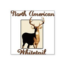 "whitetail10x10.png Square Sticker 3"" x 3"""