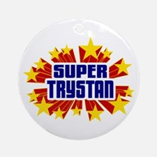 Trystan the Super Hero Ornament (Round)
