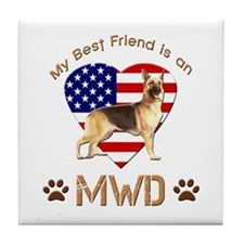 My Best Friend is an MWD Tile Coaster