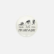 TRI LIKE A GIRL Mini Button (10 pack)