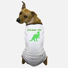 Custom Green Corythosaurus Silhouette Dog T-Shirt