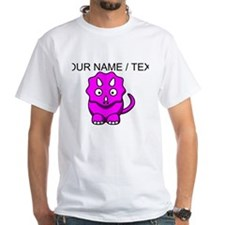 Custom Pink Cartoon Triceratops T-Shirt