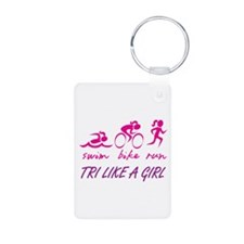 TRI LIKE A GIRL Keychains