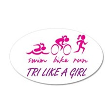 TRI LIKE A GIRL Wall Decal
