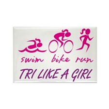 TRI LIKE A GIRL Rectangle Magnet (100 pack)