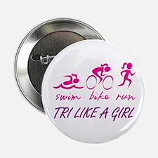 "TRI LIKE A GIRL 2.25"" Button"