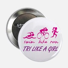 """TRI LIKE A GIRL 2.25"""" Button (100 pack)"""