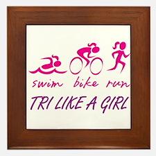 TRI LIKE A GIRL Framed Tile