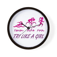 TRI LIKE A GIRL Wall Clock
