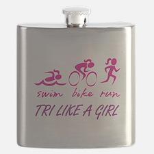 TRI LIKE A GIRL Flask