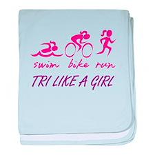 TRI LIKE A GIRL baby blanket
