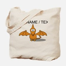 Custom Orange Pterodactyl Cartoon Tote Bag