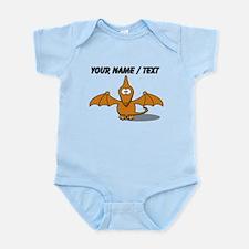 Custom Orange Pterodactyl Cartoon Body Suit