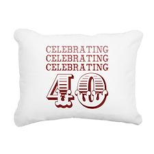Celebrating 40! Rectangular Canvas Pillow