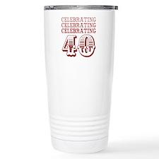 Celebrating 40! Travel Coffee Mug