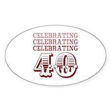 Celebrating 40! Decal