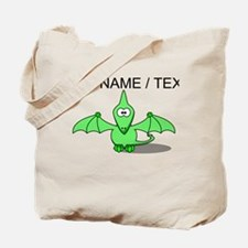 Custom Green Pterodactyl Cartoon Tote Bag