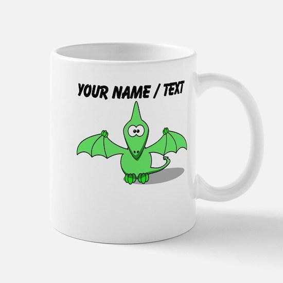 Custom Green Pterodactyl Cartoon Mug