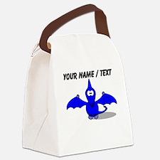 Custom Blue Pterodactyl Cartoon Canvas Lunch Bag