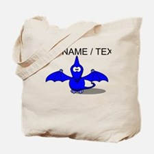 Custom Blue Pterodactyl Cartoon Tote Bag