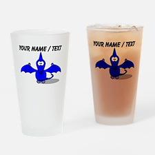 Custom Blue Pterodactyl Cartoon Drinking Glass