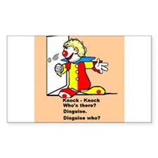 Cartoon Clown Knock - Knock Joke Disguise Decal