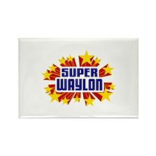 Waylon the Super Hero Rectangle Magnet