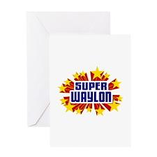 Waylon the Super Hero Greeting Card
