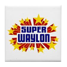 Waylon the Super Hero Tile Coaster