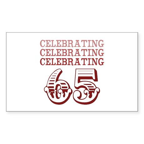 Celebrating 65! Sticker (Rectangle)