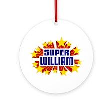 William the Super Hero Ornament (Round)