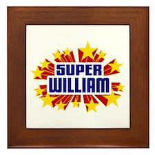 William the Super Hero Framed Tile