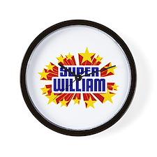 William the Super Hero Wall Clock