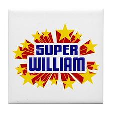 William the Super Hero Tile Coaster