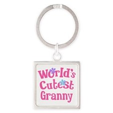 Worlds Cutest Granny Square Keychain