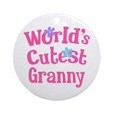 Worlds Cutest Granny Ornament (Round)