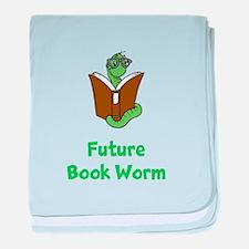 Future Book Worm baby blanket