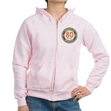 80th Birthday Vintage Zip Hoodie